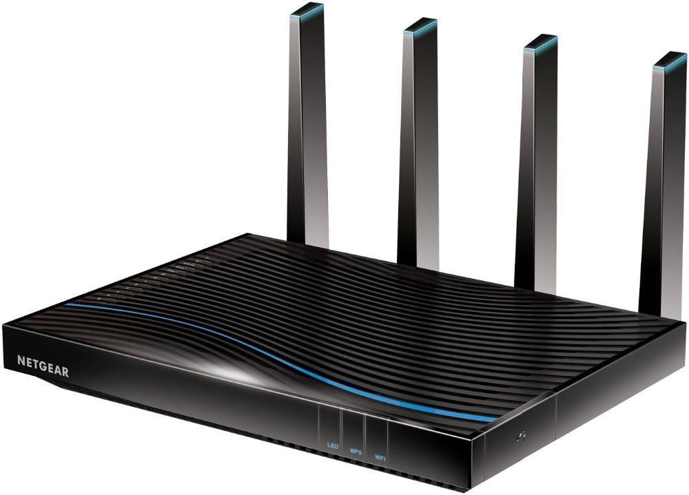 TOP 5 Best Gaming Router Original NETGEAR R8500(Simple Package) Nighthawk X8 AC5300 Smart Tri-band Gigabit 1000M+2166M+2166Mbps image