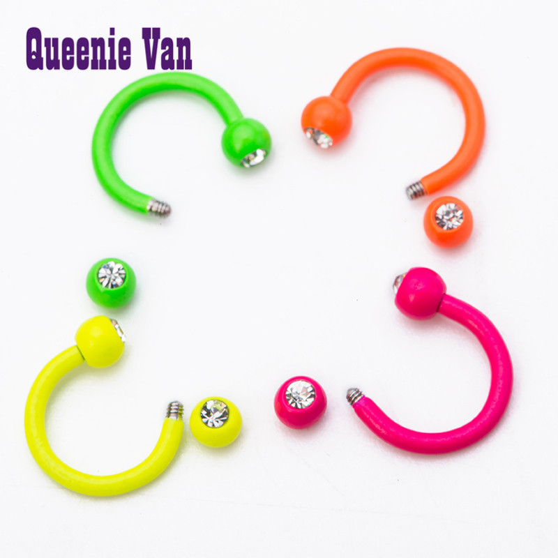 Stainless Steel Real Nose Ring Hot Products Goth Punk Candy Color