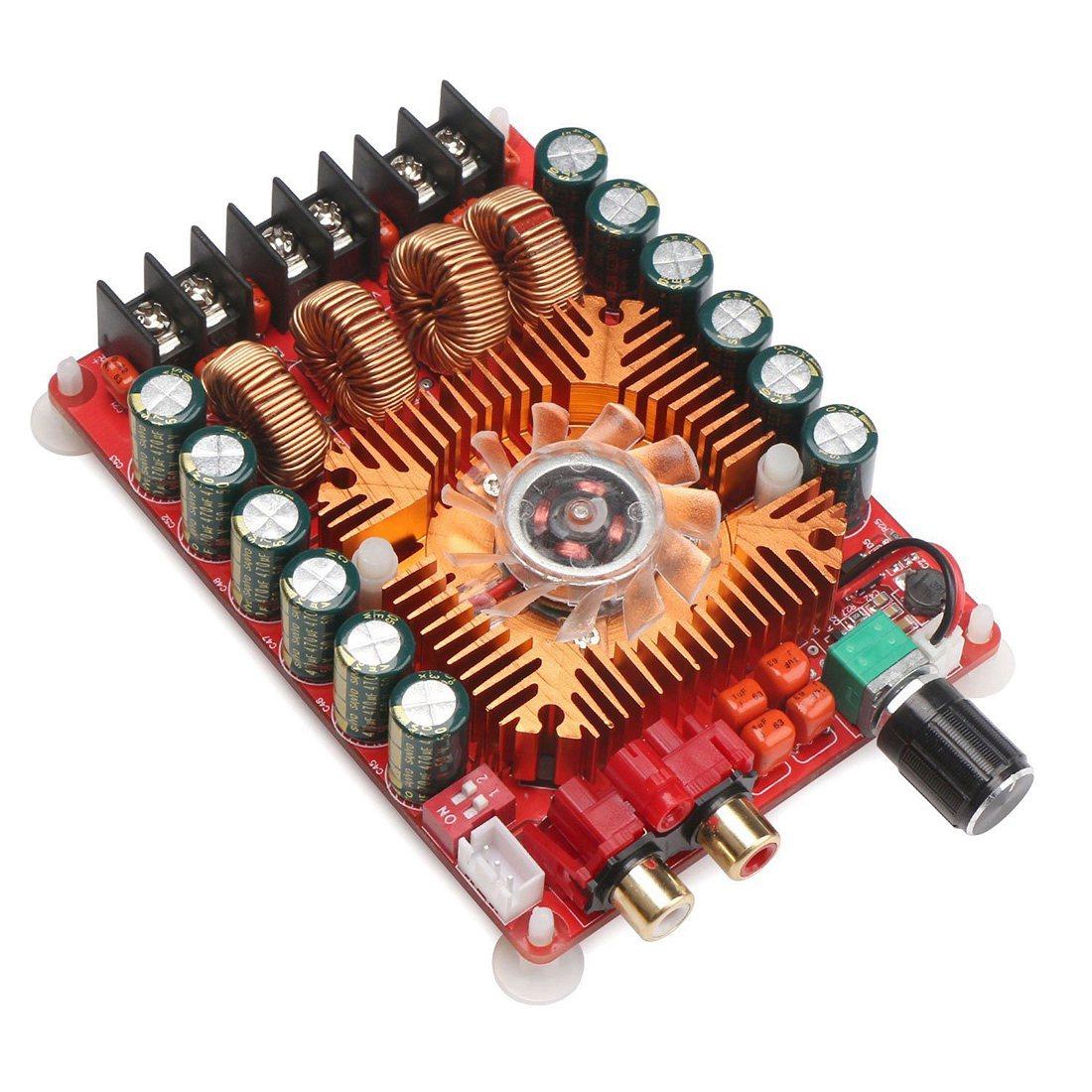TDA7498E 2X160W Dual Channel Audio Amplifier Board, Support BTL Mode 1X220W Single Channel, DC 24V Digital Stereo Power Amp aiyima 12v tda7297 audio amplifier board amplificador class ab stereo dual channel amplifier board 15w 15w