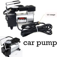 for Bicycle Car Motor Equipped Accurate Pressure Gauge Air Pumps Compressor 100 PSI Car Inflatable Pump