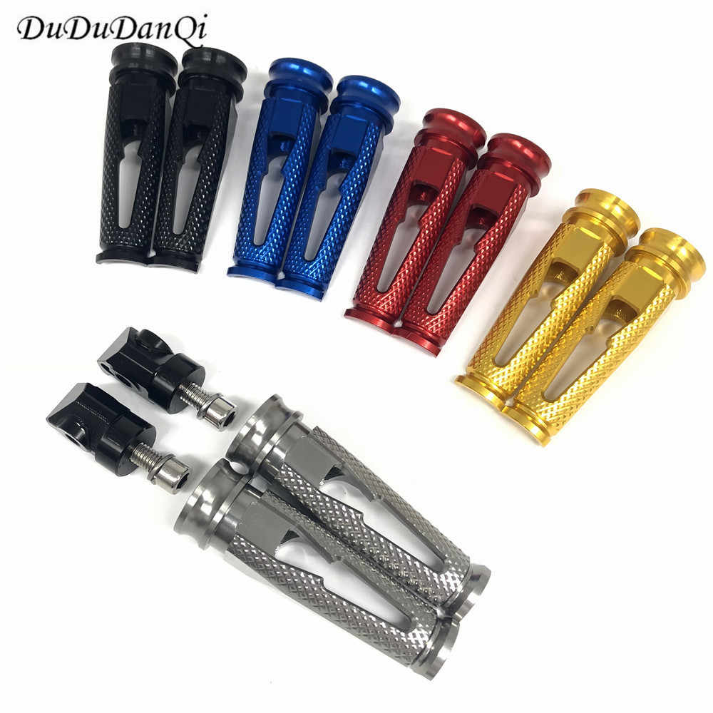 Aksesoris Motor CNC Aluminium Penumpang Pijakan Kaki Belakang Kaki Pasak Pedal untuk Honda CBR600RR F5 CBR1000RR CBR600 F4 F4i