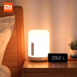 Image 1 - مصباح شاومي Mijia بجانب السرير 2 مصباح ذكي للتحكم في الصوت مفتاح لمس Mi تطبيق منزلي لمبة Led لأبل Homekit Siri و xiaoai ساعة