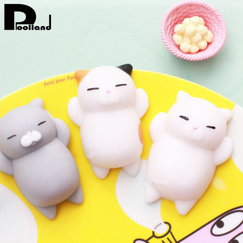 Mini Squishy Toy Lazy Cat Antistress Ball Squeeze Rising Toys Phone Straps Kids Cute Animals Soft Squishy Gags Fun Joke Toy P20