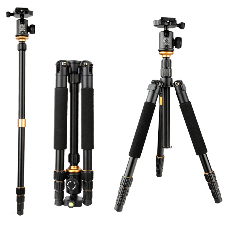 Aluminum tripod for video camera Q999S professional photo tripod monopod dslr digital with Q02 panoramic ball head business vocabulary in use advanced