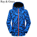 Outdoor Softshell Jacket Men Scratch-Resistant Waterproof Autumn Sports Hooded Jacket Hiking Camping Fishing Fleece Clothing