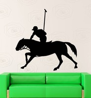 Wall Sticker Vinyl Decal Equestrian Sport Polo Horse Rider