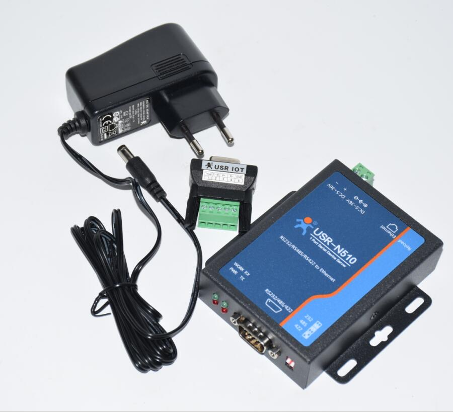 Industrial Automation Control Serial RS232 RS422 RS485 To Ethernet TCP/IP Converter Server USR N510