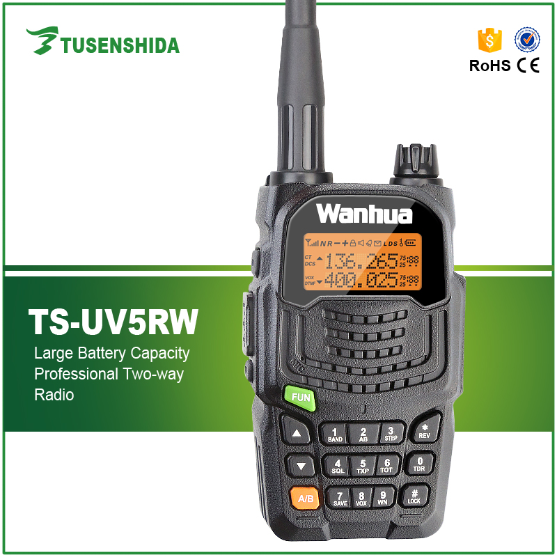 New Arrival 5W Walkie Talkie Dual Band 136 174 400 480MHZ Handheld Portable Radio TS UV5RW