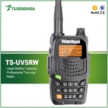 New Arrival 5W Walkie Talkie Dual Band 136-174/400-480MHZ Handheld Portable Radio TS-UV5RW Ham Radio Portable walkie talkie