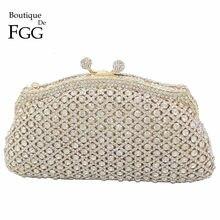 7c6592def Deslumbrante oro claro cristal embrague noche bolso de las mujeres TELA  ESCOCESA minaudiere bolso nupcial boda