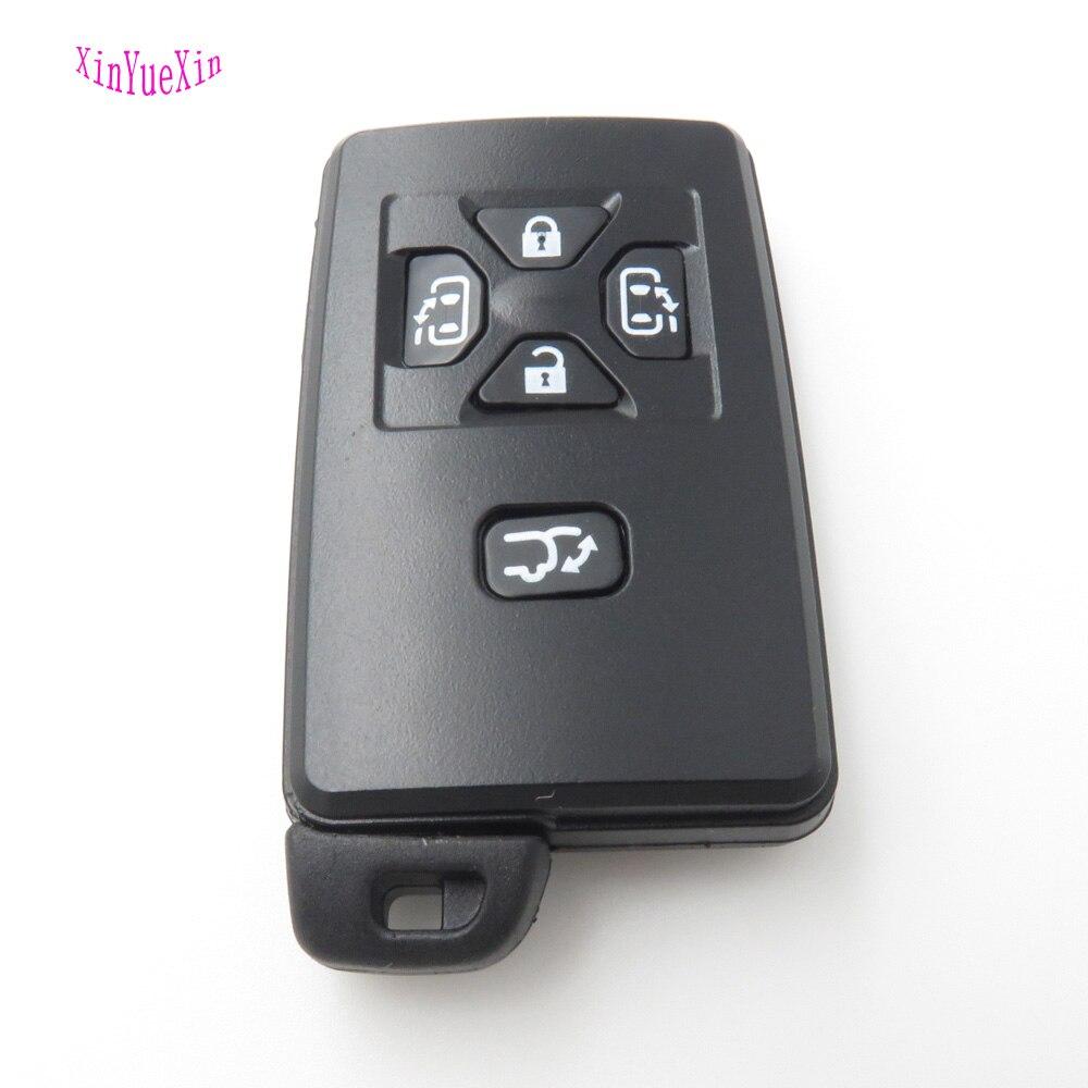XinYueXin 5 Tasten Smart Remote Key-fall-abdeckung Halter Fit Für TOYOTA Previa Replacment Schlüsseloberteil Mit Ungeschnittenes blatt