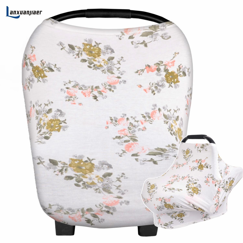 Lanxuanjiaer capa de enfermagem amamentação mãe moda de nova flor impresso algodão avental de enfermagem da maternidade amamentação cobre