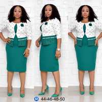 2piece set women Sheath Bodycon Elegant Tops and Skirts Work Set Business Plus Size Sets XL 4XL Large Size two piece set 2019