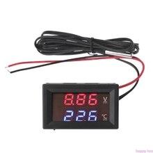 12 В/24 В светодиодный дисплей автомобиля напряжение и температура воды Датчик Вольтметр термометр