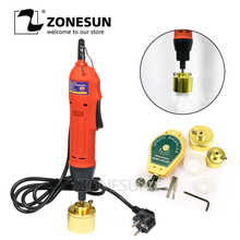 ZONESUN Manual Semi Automatic Vial Electric Plastic Bottle Capping Machine Bottle Capper Cap Screwing Sealing Machine
