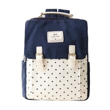 Женщины Холст Рюкзак мешок школы для девочек дамы подростки свободного покроя дорожные сумки школьный рюкзак