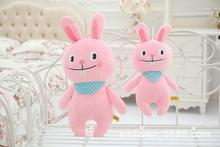 big size cartoon rabbit toy lovely plush pink rabbit doll with scarf gift about 50cm
