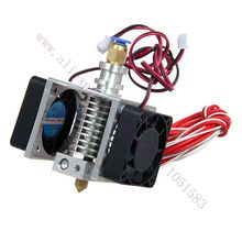 New Version Assembled V5 Hotend j-head Extruder with 2 cooling fans &cables,3D Printer parts 1.75/3mm, 0.2/0.3/0.4mm Optional