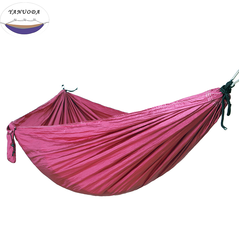 Folding Hammock Dark Purple High Strength Portable Camping Furniture Outdoor Travel
