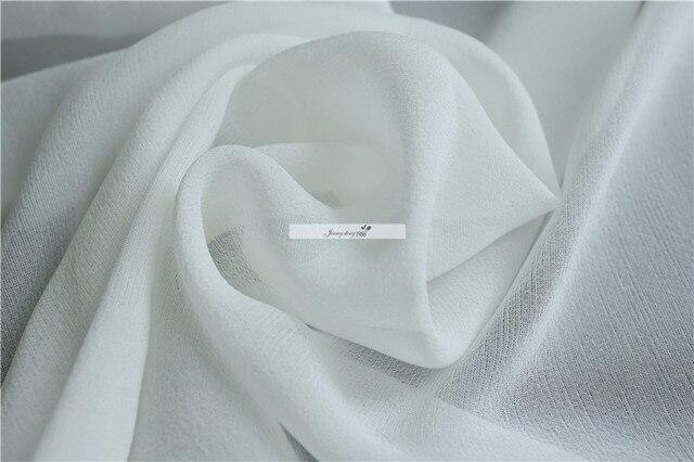 Tissu dété en gaze de soie pure   Robe en laine pure, 150 largeur de porte 10mm, tissu en laine transparent, robe écharpe, tissu bricolage, st