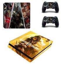 モータルコンバット PS4 スリムデカールのためのプレイステーション 4 コンソールとコントローラー PS4 スリムステッカービニール
