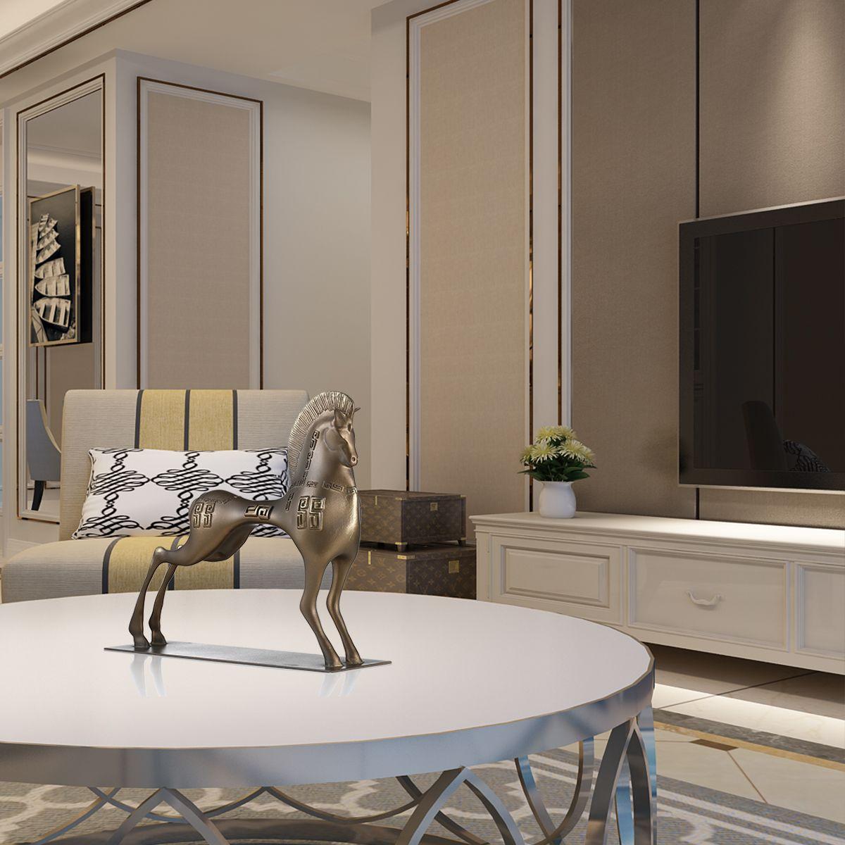 Tomfeel Vigorous Horse Fiberglass Sculpture Home Decoration Original Design Horse For Home Office