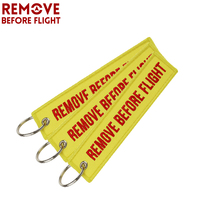 3pcs/set Remove Before Flight Keychain Embroidery Key Ring Luggage Tag Fob Motorcycle Car Chains for Aviation Gift