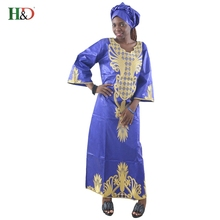 H&D African Dresses mix wax style Cotton Fabric Top Traditional  Bazin Riche African Clothing Designs Fashion