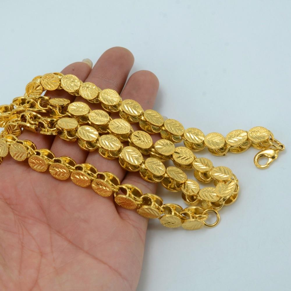 Image 3 - Anniyo Length 53CM/83CM/200CM Width 9MM, Ethiopian Thick Necklaces Women Gold Color Africa Eritrea Men Chain Dubai Arab #046506-in Pendant Necklaces from Jewelry & Accessories