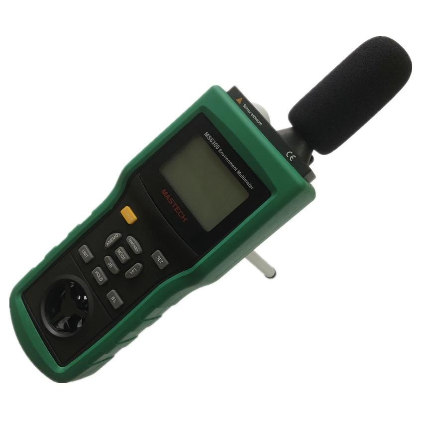 MASTECH MS6300 цифровой многофункциональный, окружающая среда метр Температура влажности уровень звука воздушного потока метр Люксметр Анемометр - 2