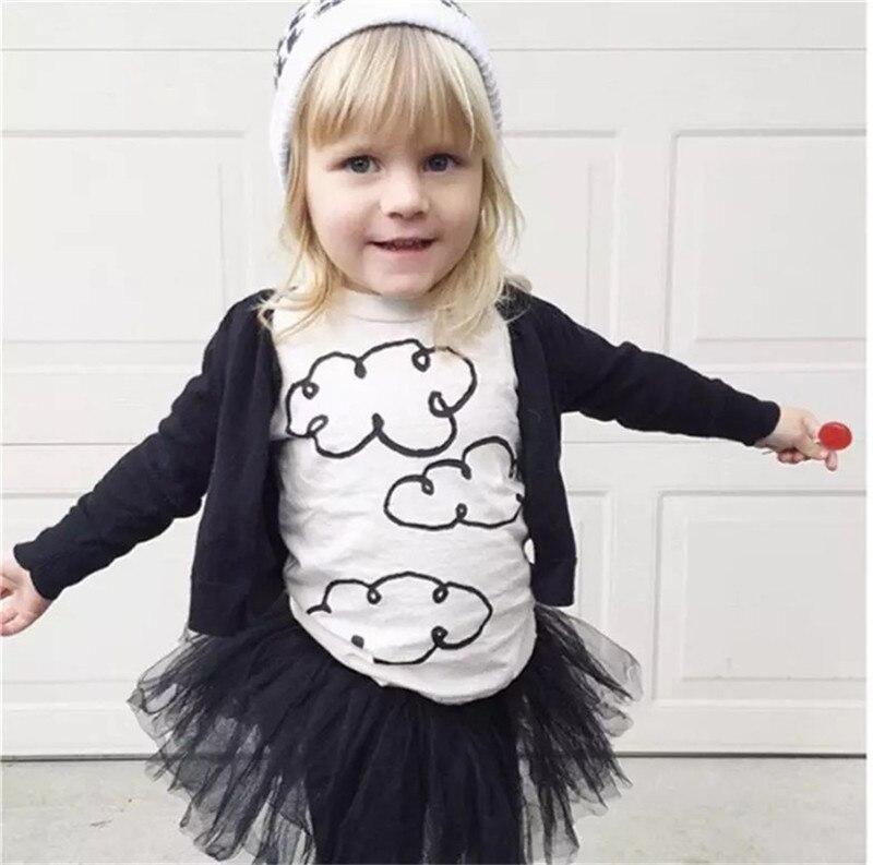 Girls Boys Cloud Print Short-Sleeve Summer T Shirt Kids Cotton T Shirt Baby Summer Tops