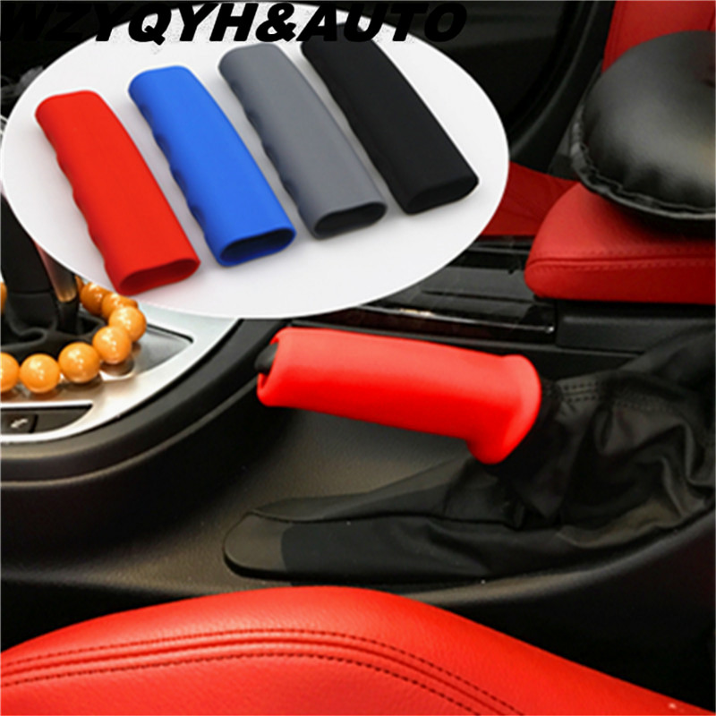 Car Handbrake Sleeve Silicone Gel Cover Anti-slip Parking Hand Brake Sleeve for vw skoda seat audi bmw lada mazda toyota ford