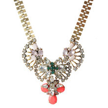 JShine Fashion Luxury Crystal Colar Pendant Chunky Necklace Women Brand Statement Necklace Vintage Costume Jewelry Bijoux Femme(China)