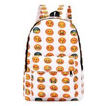Женщин emoji рюкзак дамы Оксфорд рюкзак для девочек школьные сумки для подростков путешествия высокий Ёмкость сумка для ноутбука мультфильм сумка