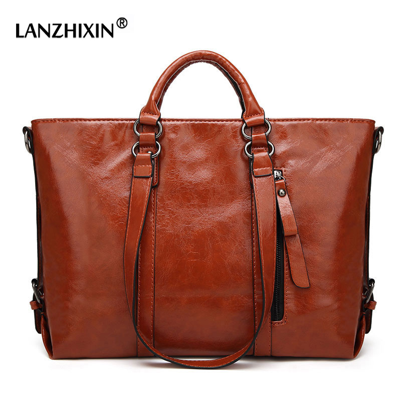 LANZHIXIN Women Messenger Bags For Women Leather Handbags Top-handle Bags Designer Handbags Shoulder Bags Bolsa Feminina A003