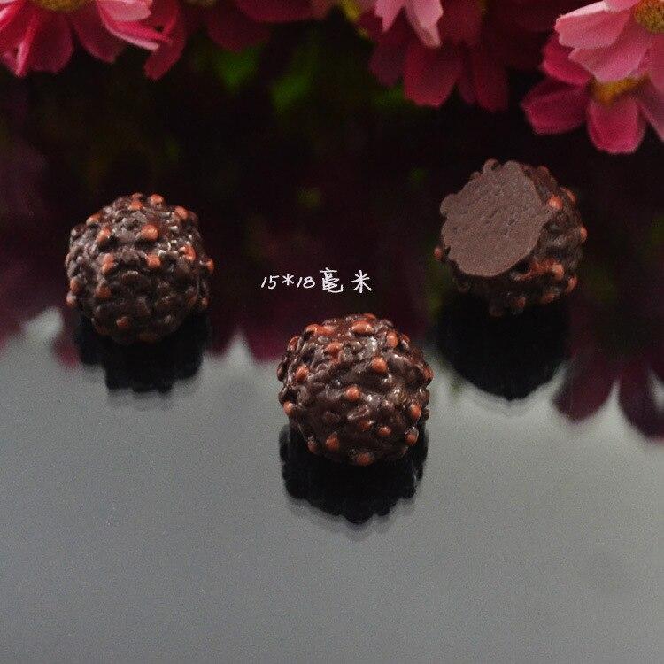 Arts,crafts & Sewing 100pcs/lot 15x18mm Simulation Resin Chocolate Truffle Cabochon For Scrapbooking Craft Diy Dollhouse Miniature Embellishment