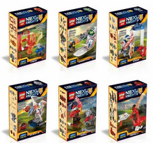 LEPIN 03029 6pcs/lot Super heroes Nexus Knights Future Knight Castle Warrior Building Block Minifigures Bricks Kid Toy Gift