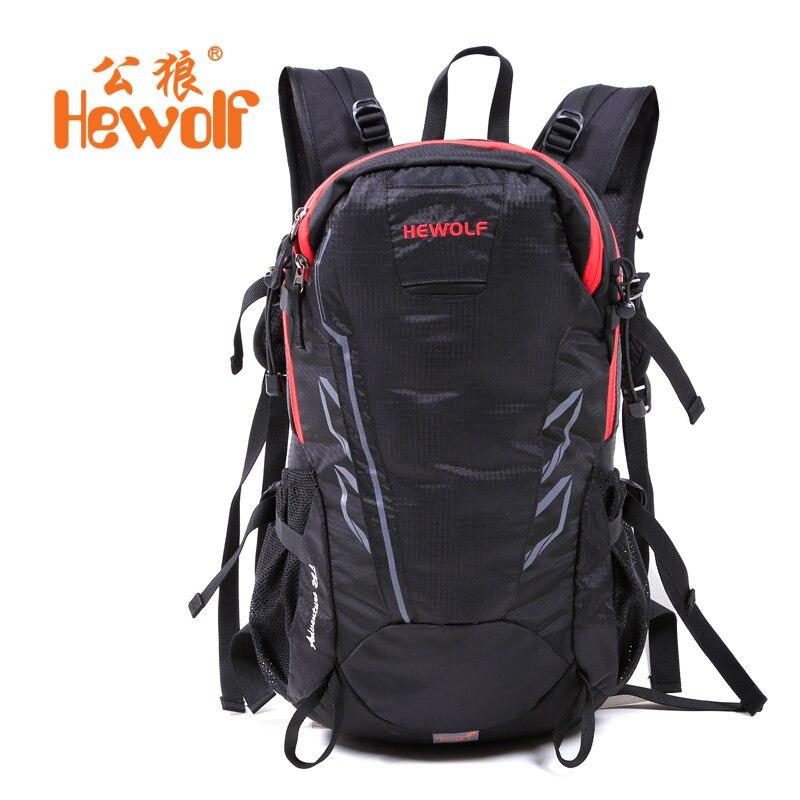 Hewolf Leisure Outdoor Travel Mountaineering Backpack Male Ultralight Waterproof Shoulders Bag Female Sports Computer Bag