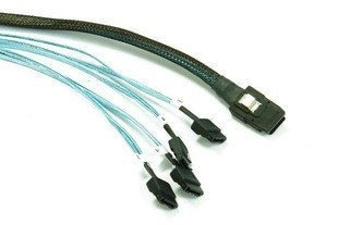 1M Mini SAS SFF-8087 36-PIN to 4 SATA 7-PIN HD Splitter Breakout Cable