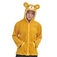 Mannen vrouwen meisjes jongens beer hoodies rits kleuren fit lente herfst sweatshirts hooded plus size cartoon