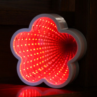 Plum Blossom Shaped Christmas Decorating 3d Light Fixtures The Neon Light Of A Small Night Light In A Tunnel Room
