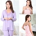 Mamalove moda de maternidad ropa de maternidad lactancia ropa de dormir pijamas de enfermería para mujeres embarazadas 3 unids/set