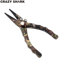 CrazyShark Aluminum Fishing Pliers Tungsten Cutters for Lines Tools Fishing Carp Fishing Remove Hook Heavy Duty 7.5in/19cm