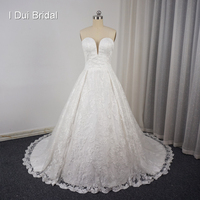 Detachable Strap Lace Wedding Dresses A Line Sweetheart Lace Up Back Alibaba Quality Robe De Mariage