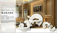 European-style decorative shelf wall furniture frame resin partition hanging platform decoration