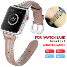 Laforuta Women Band for Apple Watch 40mm 44mm Series 4 iWatch Genuine Leather 42mm 38mm Soft Retro Wrist Replacement Belt