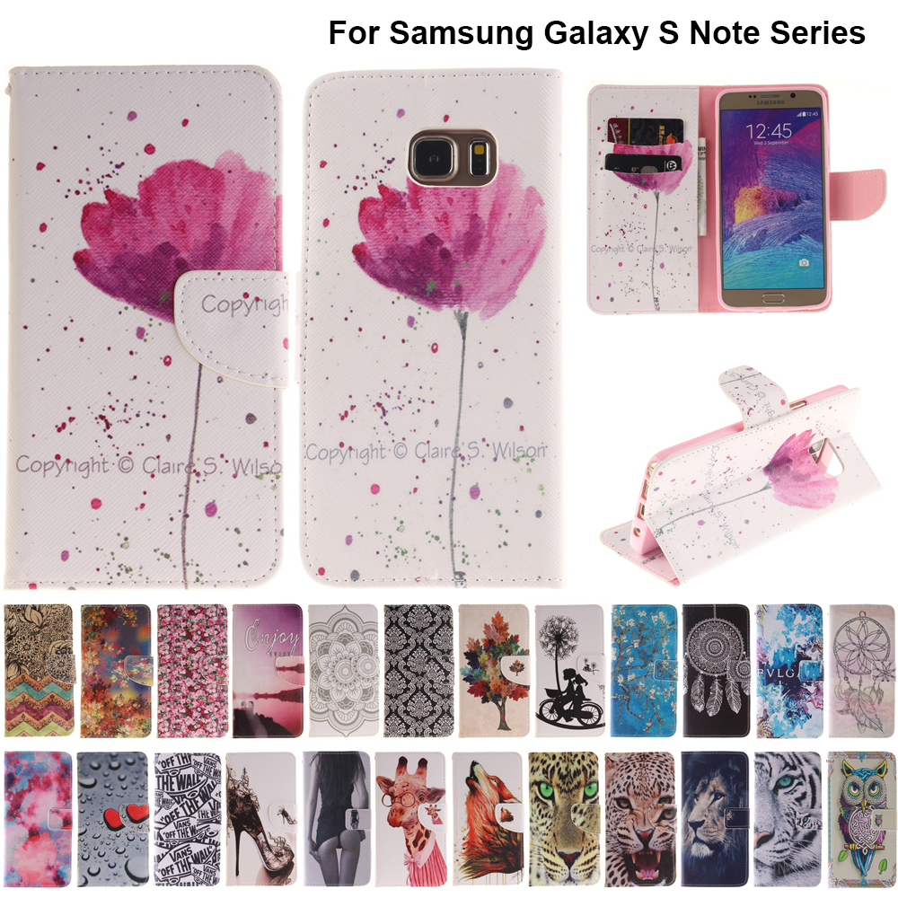 B42 Orchid <font><b>Flip</b></font> Leather Phone <font><b>Case</b></font> Wallet Cover For <font><b>Samsung</b></font> Galaxy S6 S7 Edge S8 S9 Plus Core Prime G360 <font><b>Note</b></font> <font><b>4</b></font> 5 8 9 Coque Capa image