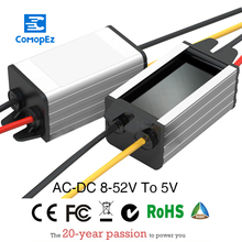 AC 24V/36V/48V(8-52V) to DC 5V Step Down Power Converter 3A