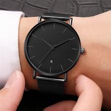 Большие черные часы Для женщин часы женские роскошные Нержавеющаясталь кварцевые наручные часы для Для женщин часы женский Наручные часы с датой