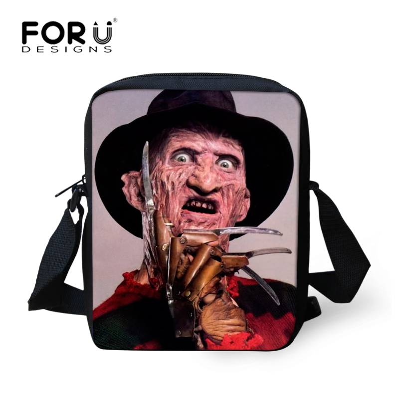 FORUDESIGNS Men Messenger Bags Freddy Krueger of A Nightmare On Elm Street Casual Crossbody Bags for Men Teen Boys Shoulder Bags neca a nightmare on elm street freddy krueger 30th pvc action figure collectible toy 7 18cm